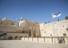 De westelijke muur in Jeruzalem Israël Stock Foto