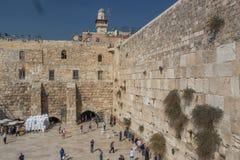 De Westelijke muur of Loeiende muur, Jeruzalem, Israël royalty-vrije stock afbeeldingen