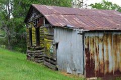 De westelijke NC-schuur van berg landelijke fam stock fotografie
