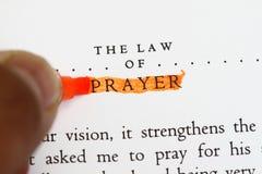 De wet van gebed royalty-vrije stock foto