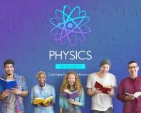 De Wetenschap Atom Energy Concept van de fysicastudie Stock Foto