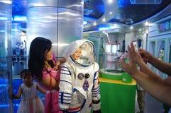 De wetenschap en de Technologiemuseum van Baoan Shenzhen, het Museum van het heelalmodel royalty-vrije stock afbeeldingen