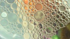 De wetenschap van de emulsies van het oliewater stock videobeelden