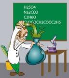 De Wetenschapper van Toonimal stock illustratie