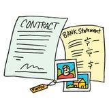 De wettelijke documenten van het bewijsmateriaalcontract Royalty-vrije Stock Foto