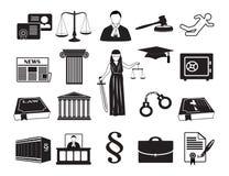 De wettelijke procureur van de pictogram vastgestelde wet royalty-vrije illustratie