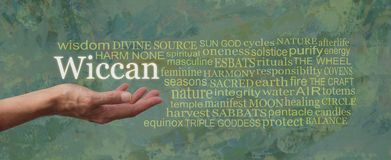 De Wiccan-Manierword Markeringswolk royalty-vrije stock afbeelding
