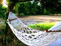 De wieg met ontspant op de vakantie royalty-vrije stock foto's