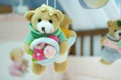 De wieg van de baby Stock Foto's