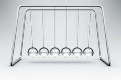 De wieg van Newtons die in glas wordt gemaakt Stock Foto