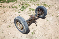 De wielen van de as Stock Foto's