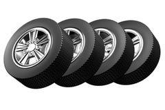 De wielen van de auto Royalty-vrije Stock Afbeeldingen