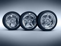 De wielen van de auto Royalty-vrije Stock Foto's