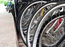 De wielen van de fiets Stock Fotografie