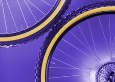 De wielen van de fiets stock afbeelding
