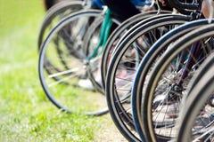De wielen van de fiets Stock Foto's