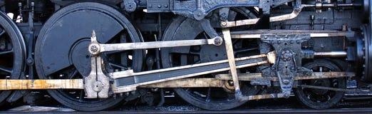 De Wielen van de trein Stock Foto's