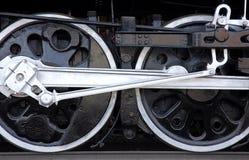De wielen van de trein stock afbeeldingen