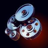 De wielen van het close-uptoestel Stock Fotografie