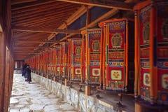 De wielen van het gebed Stock Foto