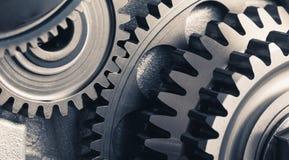 De wielen van het motortoestel, industriële achtergrond royalty-vrije stock fotografie