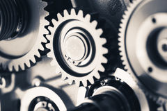 De wielen van het motortoestel, industriële achtergrond royalty-vrije stock foto