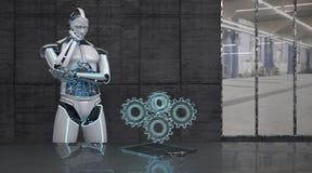 De Wielen van het robottoestel royalty-vrije illustratie