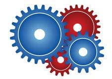 De wielen van het toestel - vector Stock Foto's