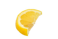 De wig van de citroen stock foto's