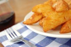 De wiggen van de aardappel Stock Foto's