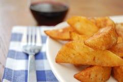 De wiggen van de aardappel Stock Afbeeldingen