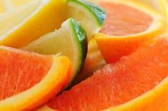 De wiggen van de citrusvrucht Stock Fotografie