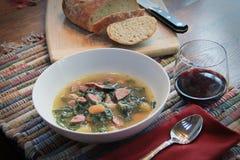 De Wijn en het Brood van de soep royalty-vrije stock afbeelding