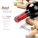 De wijn en kurkt Royalty-vrije Stock Foto's