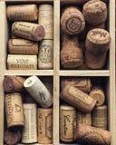 De wijn kurkt stock foto