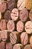 De wijn kurkt Stock Foto's