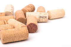 De wijn kurkt stock fotografie