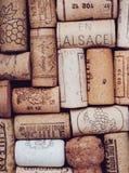 De wijn kurkt royalty-vrije stock fotografie