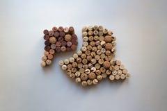 De wijn kurkt hierboven commentarenpictogram van stock foto