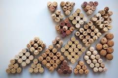 De wijn kurkt tegels abstracte achtergrond stock foto's