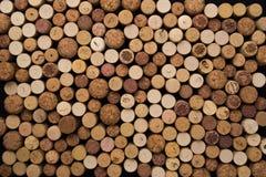 De wijn kurkt textuurachtergrond Wijnmakerij materiële textuur royalty-vrije stock foto