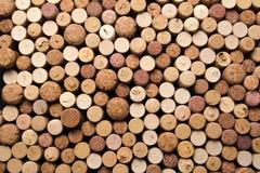 De wijn kurkt textuurachtergrond Wijnmakerij materiële textuur stock foto