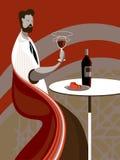 De wijn van de smaak Stock Fotografie