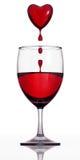 De wijn van het bloed. Stock Afbeeldingen