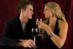 De wijn van het paar Stock Fotografie