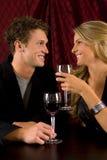 De wijn van het paar Royalty-vrije Stock Afbeeldingen