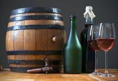 De wijn van het vat royalty-vrije stock afbeeldingen