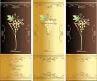 De Wijnen van de inzameling Royalty-vrije Stock Fotografie