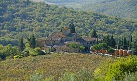 De Wijnen van Toscanië Stock Foto