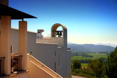 De Wijngaard van Stirling, Sonoma en Napa Vallei, Californië stock afbeelding